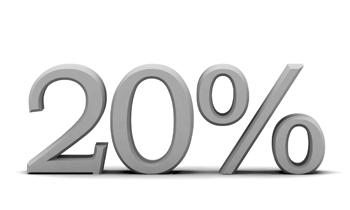20 prosentin alennus uusille asiakkaille