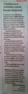 Aamulehti, 29.5.2012