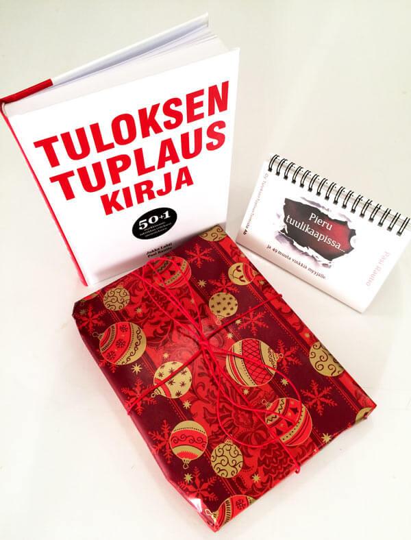 Tuplaamon joulupaketti: Tuloksentuplauskirja + Pieru tuulikaapissa