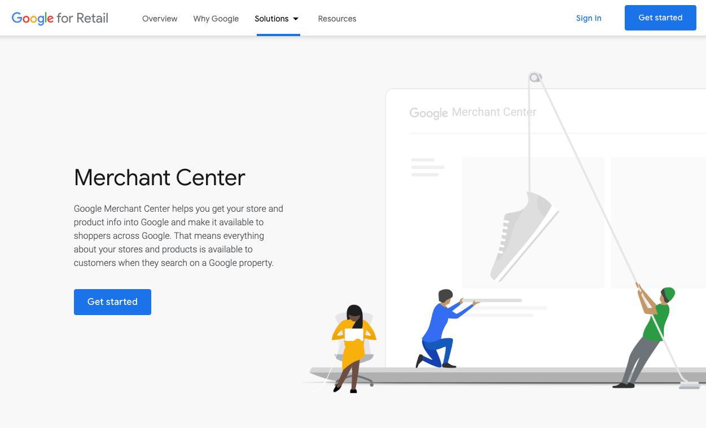Google Shopping mainonta edellyttää kauppiastilin käyttöönottoa