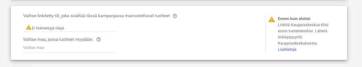 Kauppiastili Google Shopping mainonta