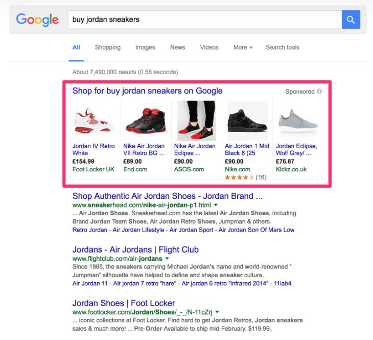 Shopping mainokset tuovat visuaalisuutta Google hakuun